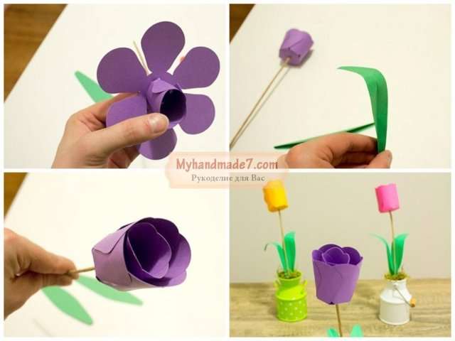 Цветы из бумаги своими руками: схемы и фото с шаблонами изготовления
