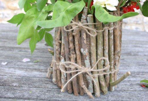 Ваза своими руками: декор из банки, из картона и из природного материала