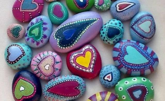 Роспись камней акриловыми красками: мастер класс для ...