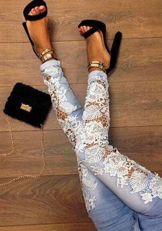 Декор джинс своими руками: фото как сделать с кружевом