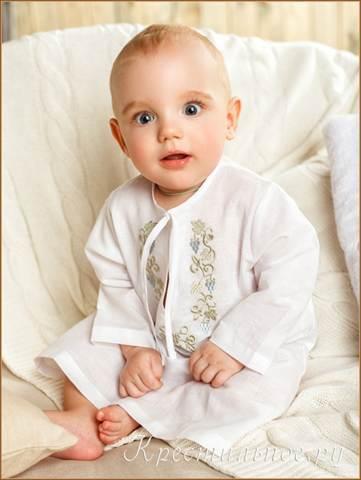 Крестильная рубашка для мальчика: выкройка своими руками