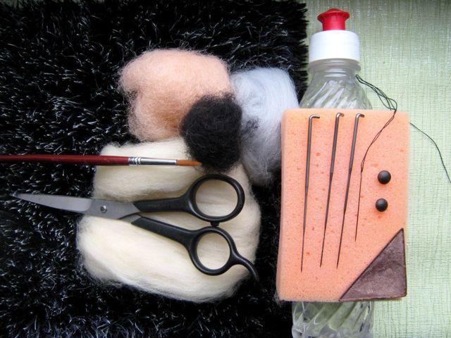 Валяние ёжика из шерсти для начинающих с фото и видео-уроками