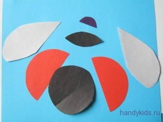 Аппликация божьей коровки: делаем из ткани и из цветной бумаги