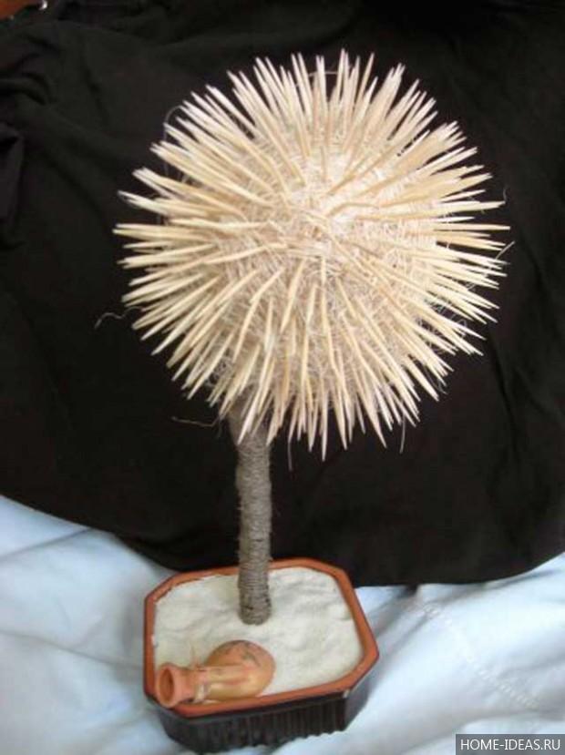 Топиарий из атласных лент: мастер класс пошагово
