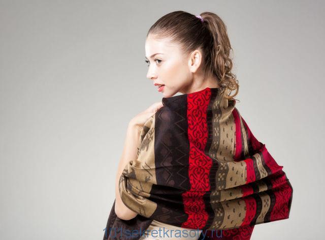 шарф платок на пальто