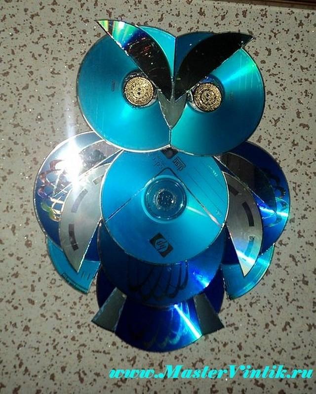 Поделки из дисков своими руками фото пошагово