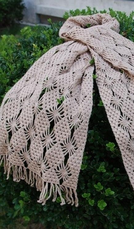 двоих ажурные шарфы крючком фото каплях