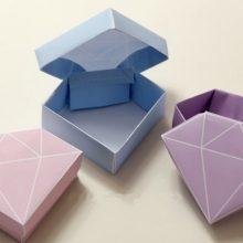 Подарочная коробка своими руками: схема с фото