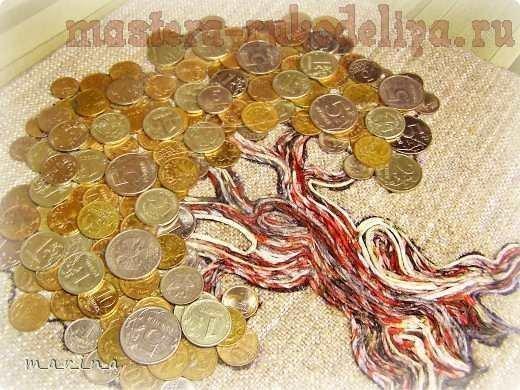 Картина из монет своими руками: мастер класс c фото