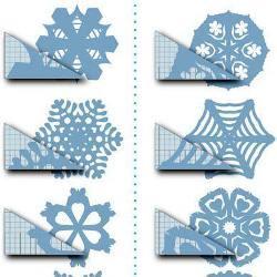 Как вырезать снежинки из бумаги своими руками поэтапно: схемы и вырезаем по шаблонам с лёгкостью