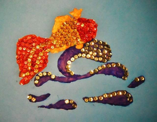 Золотая рыбка своими руками: мастер класс с фото