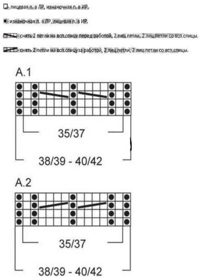Тапочки вязаные на двух спицах со схемами и описанием
