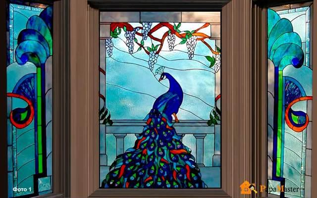 Витражи на стекле своими руками по трафаретам: делаем витражными красками по фото