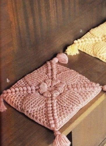 Покрывало и накидка на кресло - вязание крючком