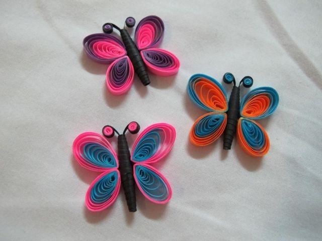Бабочка в технике квиллинг (17 фото): схемы и мастер-класс для ...   480x640