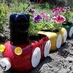 Фигуры из пластиковых бутылок для сада: для детского сада и детской площадки